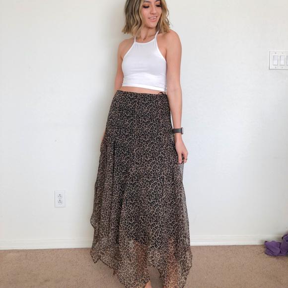 Shape FX Dresses & Skirts - Shape FX Cheetah Print Handkerchief Skirt